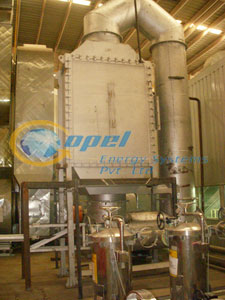 Waste heat recovery system on paint shop oven exhaust commissioned ( capacity 4 lac kcal/hr.)